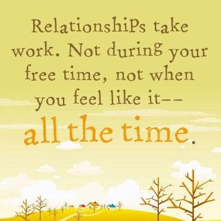 when do you know the relationship is not working